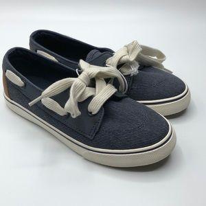NWT Cat&Jack Boy's Canvas Blue Boat Shoes Size 13